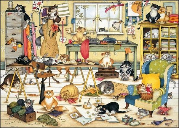Картинка где здесь кошка