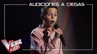 José Carlos López canta 'Hoy tengo ganas de ti' | Audiciones a ciegas | La Voz Kids Antena 3 2021