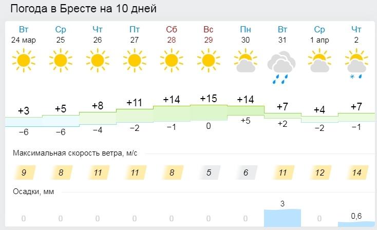 До -13°С ожидается в Беларуси в ночь на 25 марта