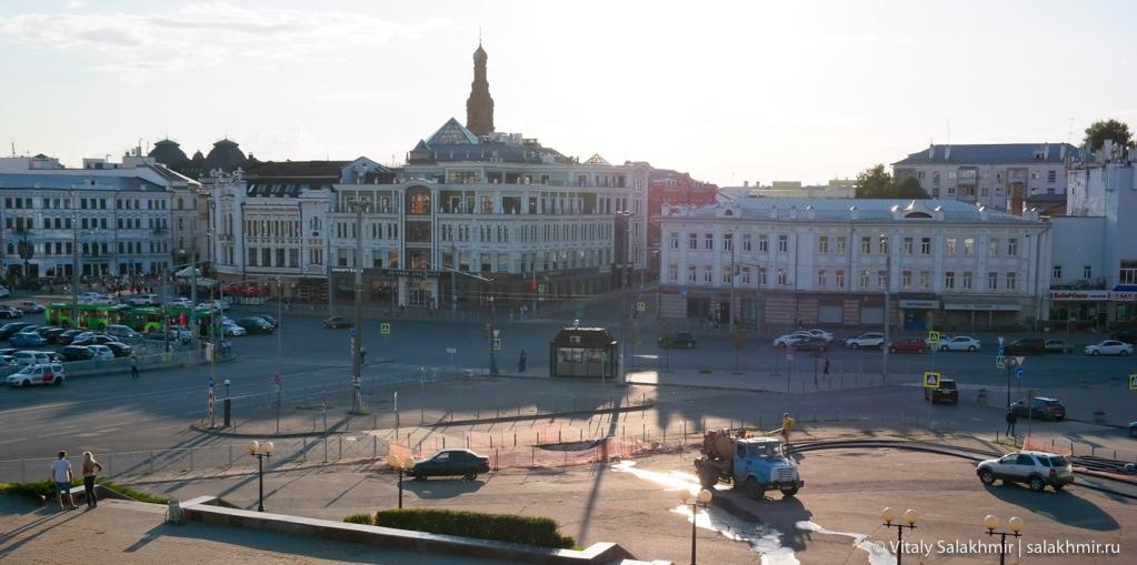 Площадь перед Вахитовским холмом, Казань 2020