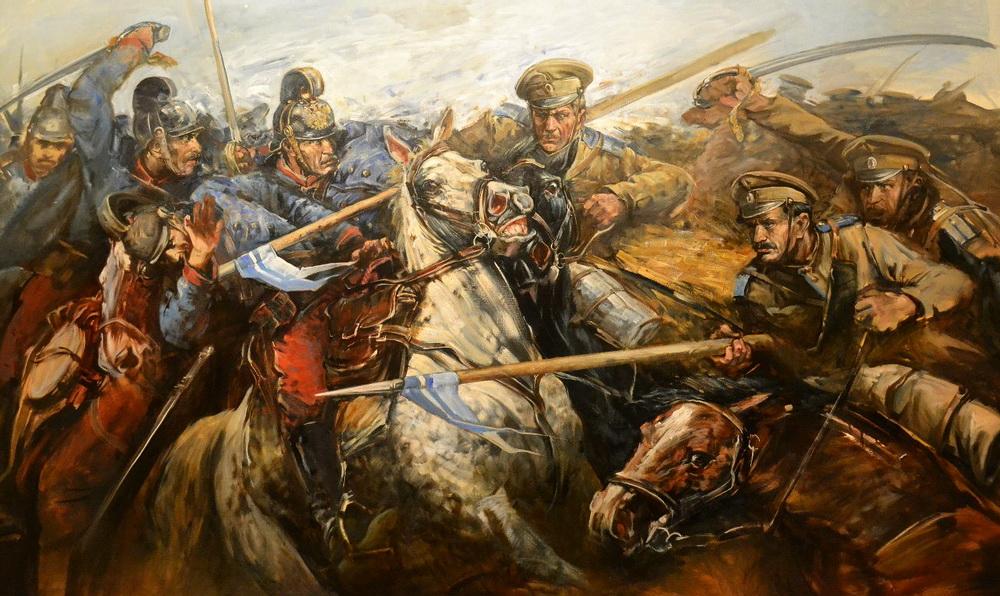 содержит картинки боев казаков первой картине