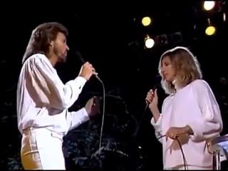 Barbra Streisand & Barry Gibb - Guilty - Live 1986 HQ - (With Lyrics)