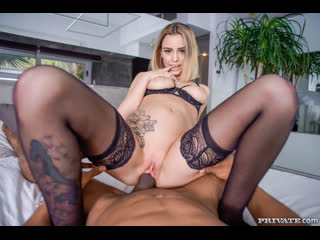 Lya Missy - Once You Go Black…  [2020 г., BBC, Blonde, Blowjob, European, Facial, Interracial, Lingerie, POV]