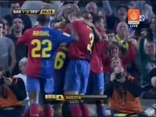 "Андрес Иньеста - гол ""Севилье"" (22 апреля 2009 года)"