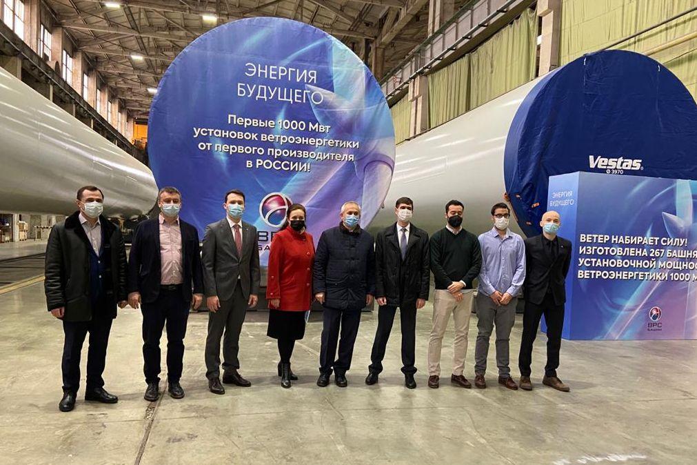 Таганрогские «Башни ВРС» изготовили оборудование для ветропарков суммарной мощностью более 1000 МВт