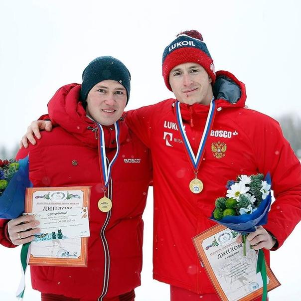 Сергей Ардашев на финале кубка России по лыжным гонкам. 1 ме