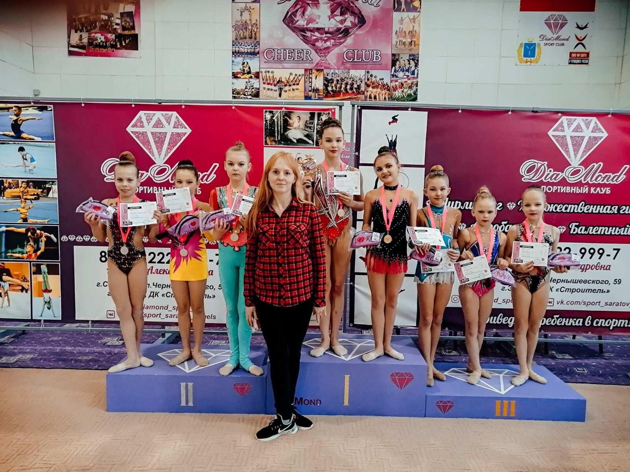 Петровские спортсменки - призёры открытых соревнований по художественной гимнастике