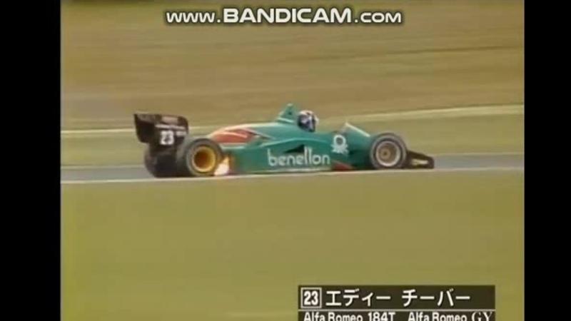 Alboreto Prost over Rosberg Cheever engine