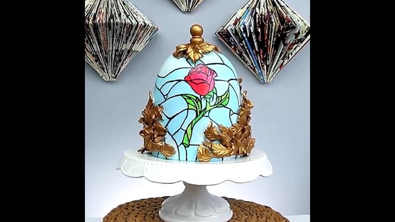 Как сделать торт Роза под куполом м ф Красавица и чудовище Наша группа в ВК Торты на заказ Мировые шедевры