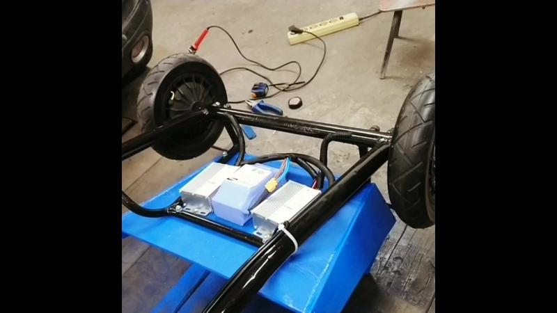 Пробный запуска мотор колёс