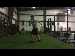Staggered Stance Arm Swing