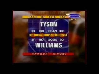 57) MIKE TYSON V DANNY WILLIAMS