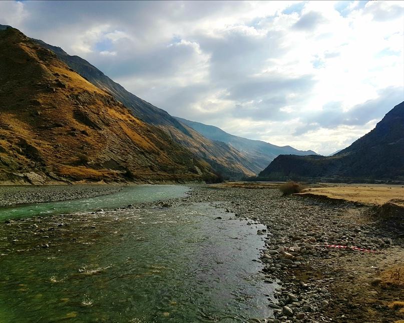 Красивый вид на долину реки из последнего сектора зоны «А»