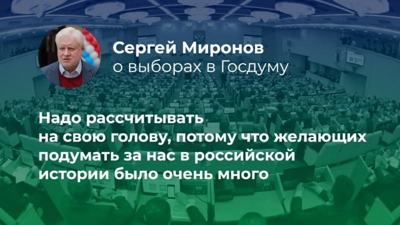 Сергей Миронов проголосовал на выборах в Госдуму