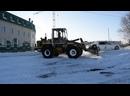 Погрузчик Амкодор-333В ТО-18Б.3. Работа по уборке снега.