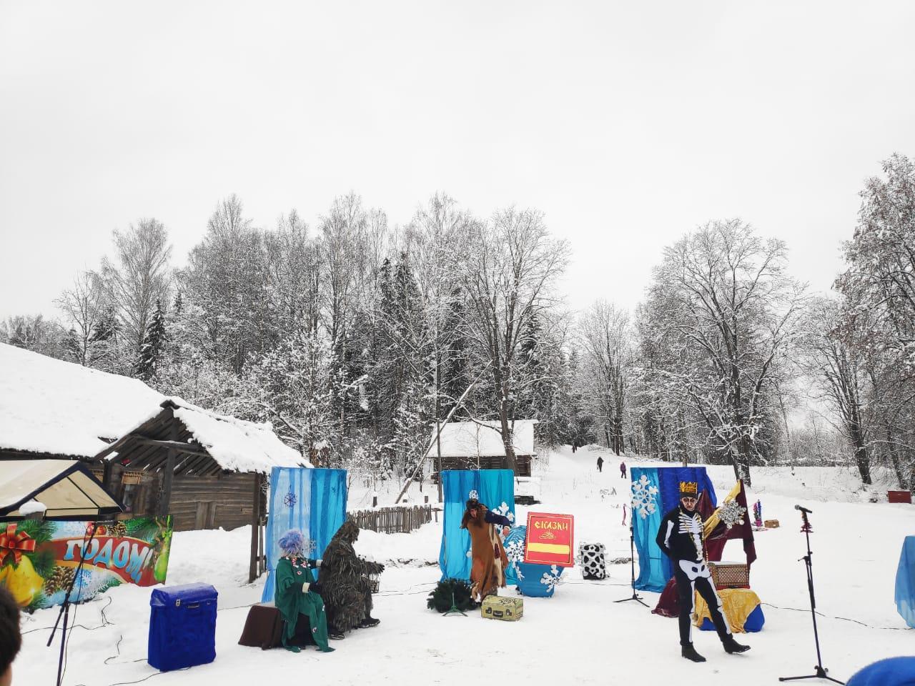 В архитектурно-этнографическом музее «Василёво» в Тверской области прошли зимние гуляния