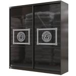 Шкаф-купе Мэри Премиум 2000 2-х дверный № 11, цвет дуб венге/стекло лакобель с печатью