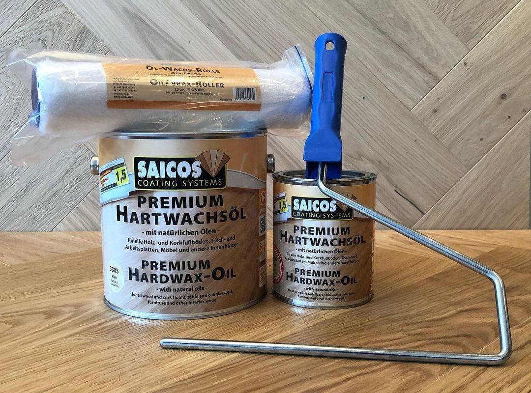 Масло с твердым воском для дерева Saicos Premium Hartwachsol