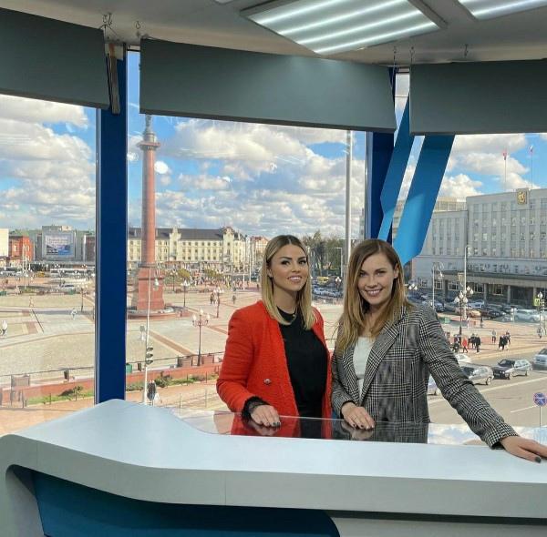 Оксана Стрункина работает на телевидение