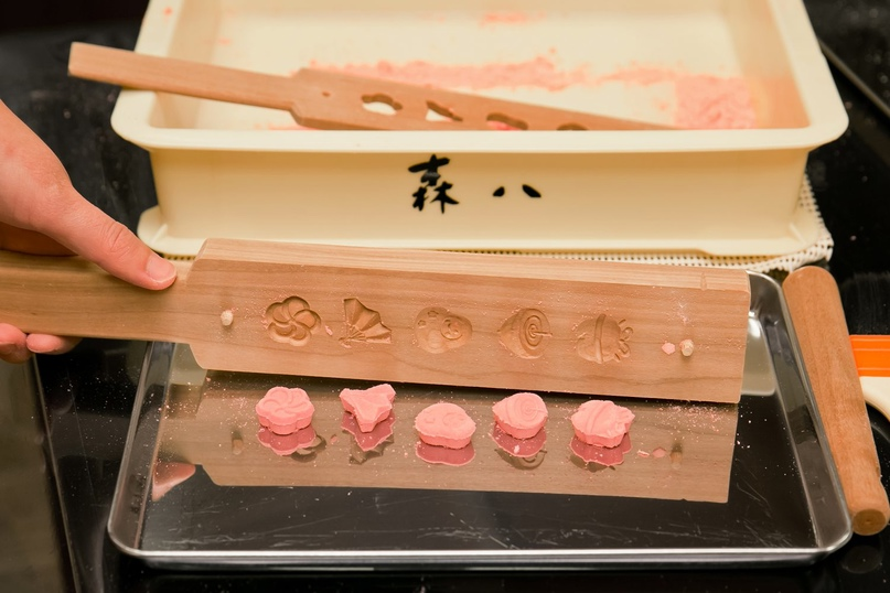 Японские деревянные резные формы Кашигата, изображение №35
