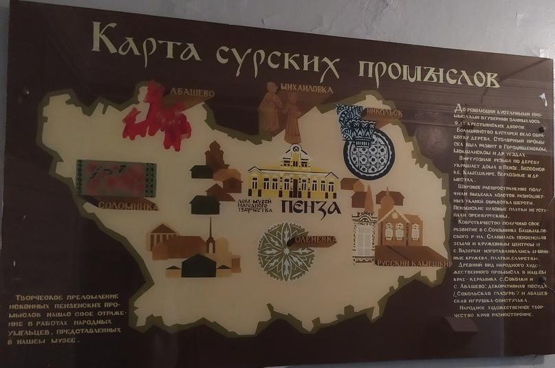 Карта сурских промыслов