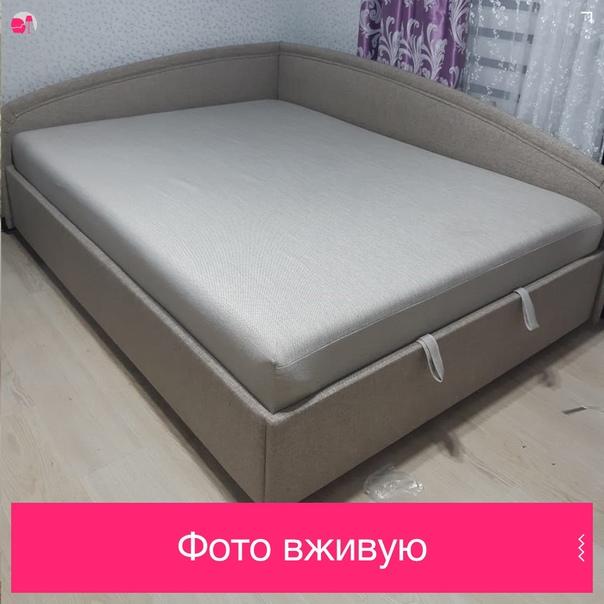 """Кровать с подъемным механизмом """"Угловая"""" 900 / 1200 / 1400 / 1500 мм"""