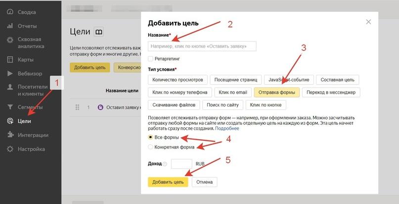 Как Настроить Цели В Яндекс.Метрике, изображение №3