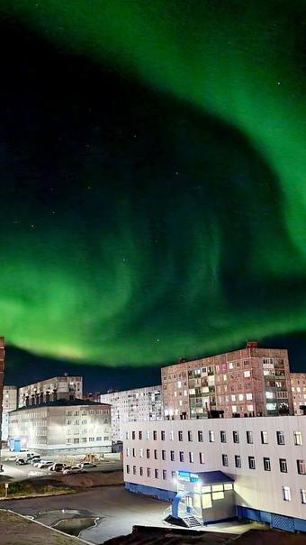 Завораживающее северное сияние сегодня ночью. 😌...
