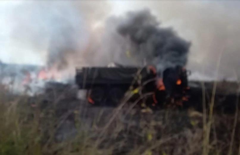 Народная милиция ДНР уничтожила грузовик морской пехоты ВСУ