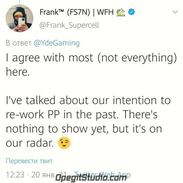 Фрэнк ответил на мнение Yde об игре на