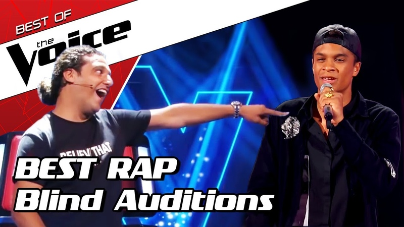 TOP 10 MIND BLOWING RAPPERS Blind Auditions in The Voice