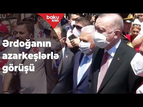Ərdoğanın azarkeşlərlə görüşü Baku TV