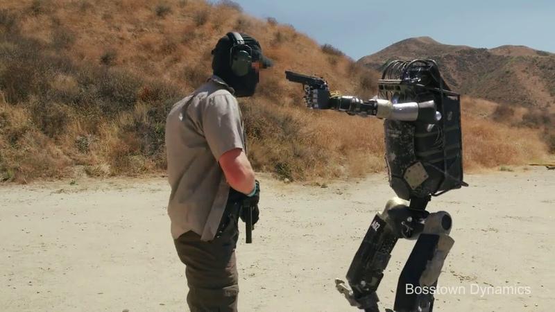 Очередное видео от Bosstown Dynamics Испытание боевого робота стрелка