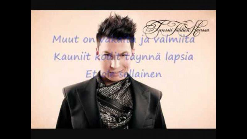 Antti Tuisku Et ole sellainen with lyrics
