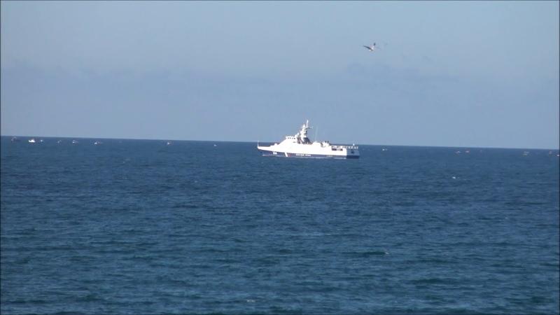 Белый пароход пляж Любимовка 24 10 20г
