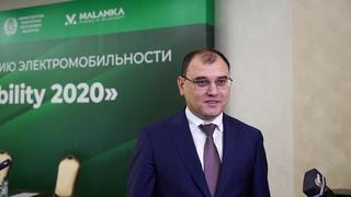 Министр энергетики Беларуси Виктор Каранкевич выступает на форуме по развитию электромобильности