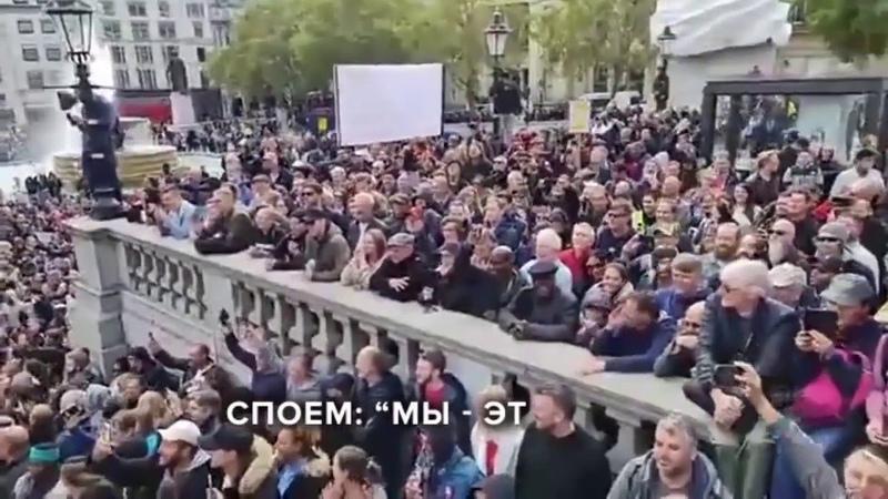 Песня года 2020 В Великобритании прошёл протест Британцы Англичане спели песню Это Англия Лондон