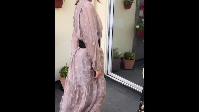 Новый цвет платья из 100% шелка Подкладка вискоза В наличии цвета бежевый на видео черничный оливковый ❗Будьте внима