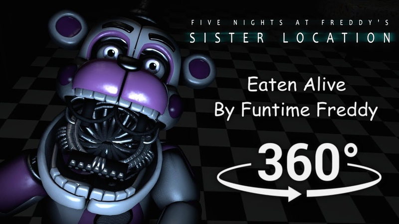 360° Eaten Alive by Funtime Freddy FNAF Sister Location SFM VR Compatible