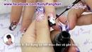 Học nail Vẽ cọ nét Trắng đen nền nã KellyPang Nail