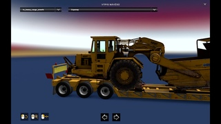 """[ETS2 ] Heavy cargo Pack with trailers from ATS for the """"Russian Open Spaces Map"""" v 1.0"""