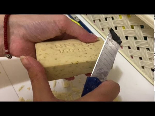 ASMR Cutting soap with camomile Резка мыла Целебные травы с ромашкой АСМР видео для релаксации