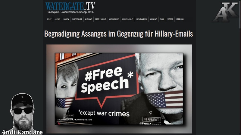 Begnadigung Assanges im Gegenzug für Hillary Emails