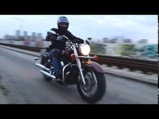 Yamaha Drag Star 400 разгон до 100  и динамика Accelerate to  100 km/h