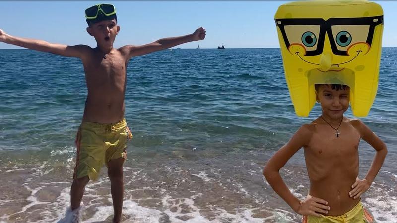 SpongeBob на пляже Супер Встреча Стефан и Губка Боб Квадратные Штаны