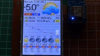 "ESP8266+3.5"" TFT Internet Weather Station - Final version"