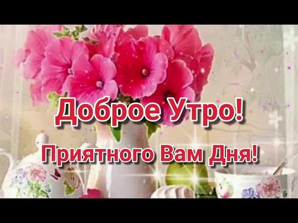 С Добрым Утром С Новым Днём Красивое пожелание доброго утра Музыкальная видео открытка