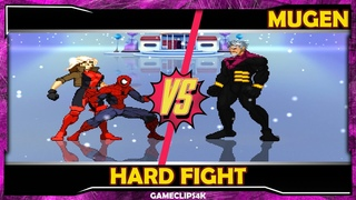 SpiderMan and Rogue Vs Bastion [Hard Fight] MUGEN CHAR