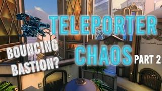BOUNCING + SPAWN TELEPORTER TRICK - TELEPORTER CHAOS PART 2 - SYMMETRA MEI