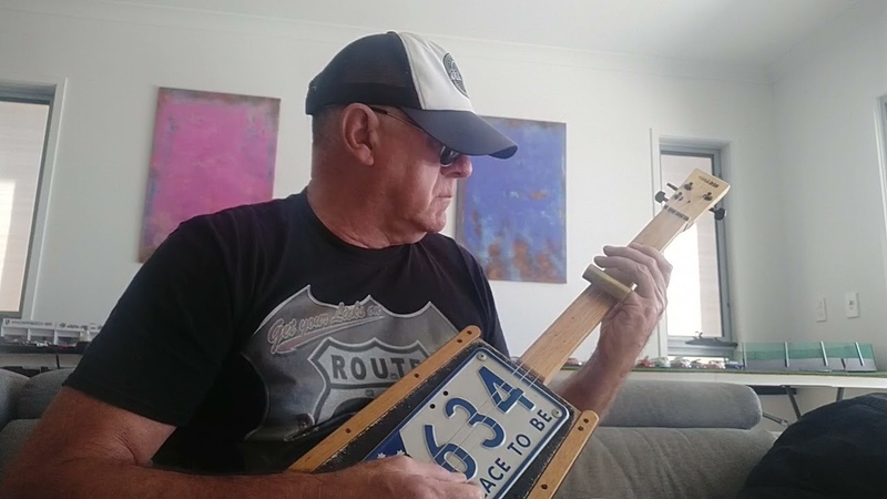 House of the Rising Sun tune Cigar box guitar style by Gazza Miller